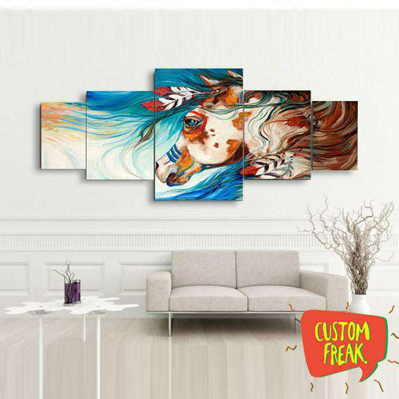 Abstract Horse 03- Set of 5 - Wall Hangings - Custom Freaks