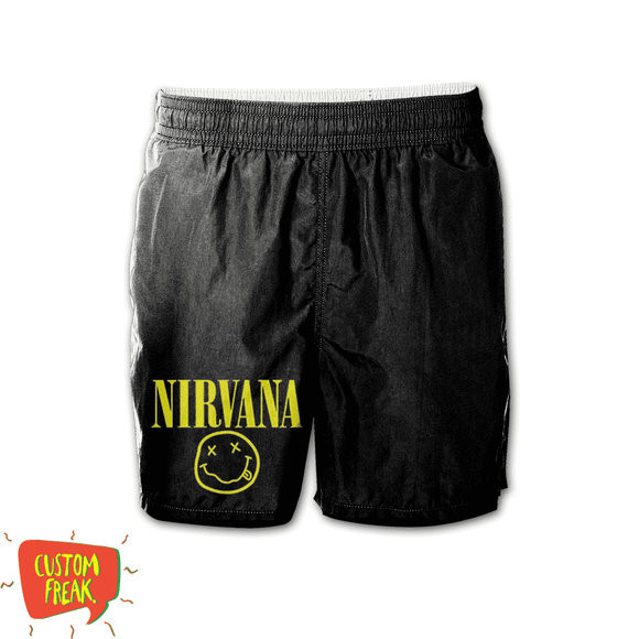 Nirvana - Graphic Printed Shorts