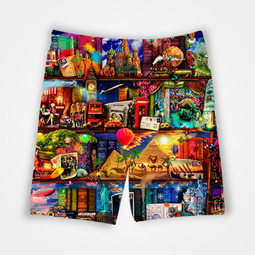 Painting Collage - All Over Printed Shorts