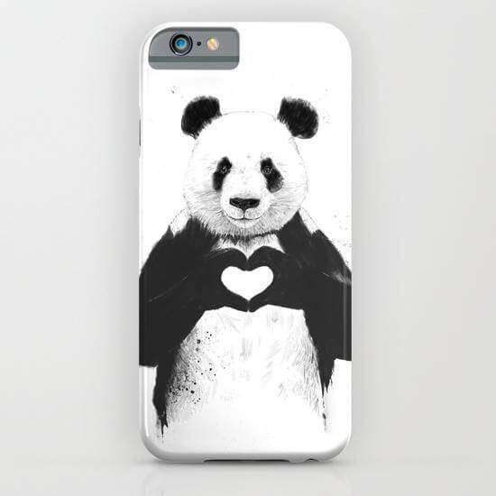 Panda Printed Cell Cover - Cell Cover