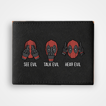See Evil Take Evil Hear Evil Dead Pool - Graphic Printed Wallets