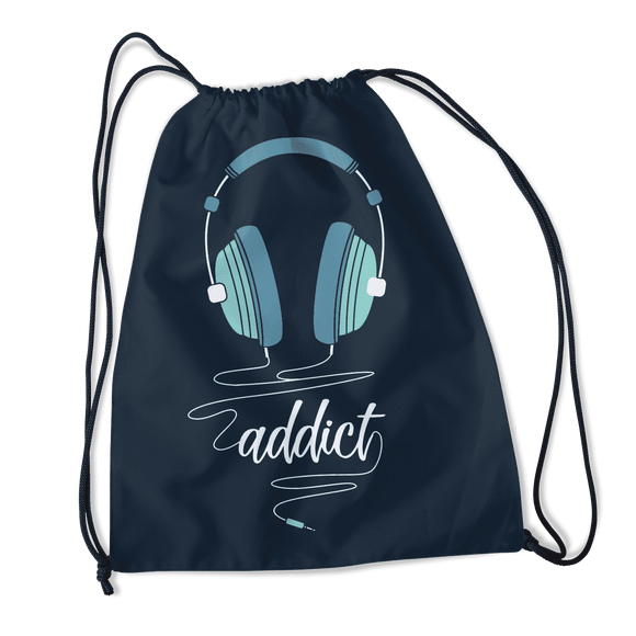 Music Addict - Drawstring Bag