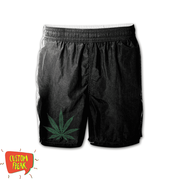 Weed - Graphic Printed Shorts
