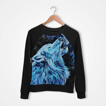 Wolf Abstract - Digital Printed Sweat Shirt