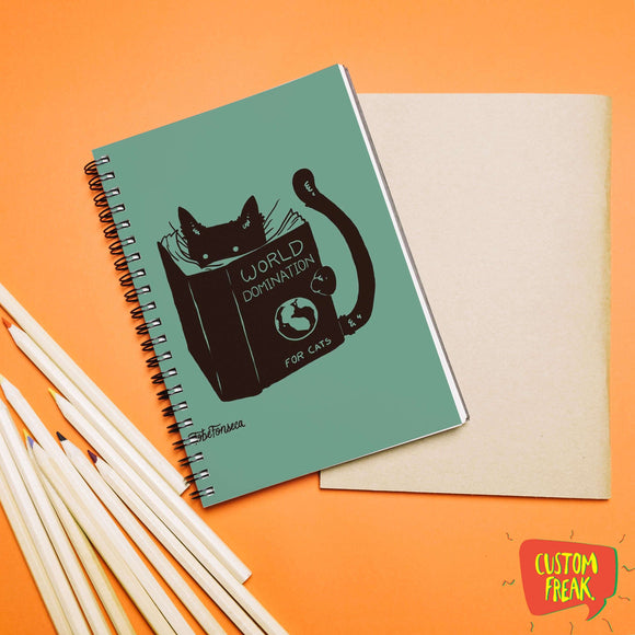 World Domination For Cats - Notebook