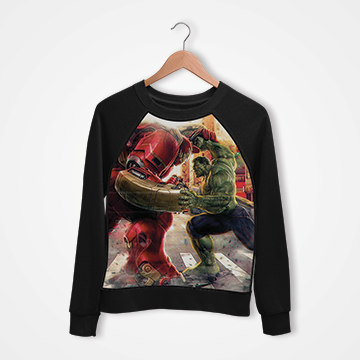 Ironman vs Hulk - Digital Printed Sweat Shirt