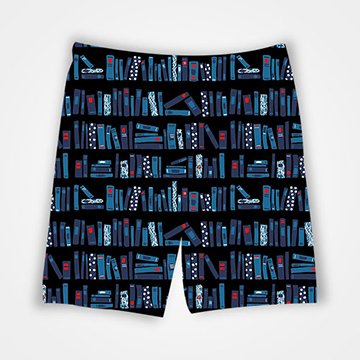 Books Collage - All Over Printed Shorts