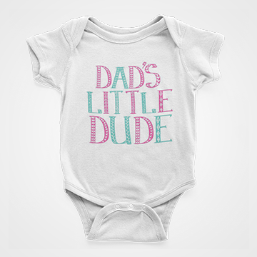 Dads Little Dude - Baby Romper
