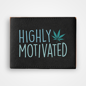 Highly Motivated - Weed- Graphic Printed Wallets