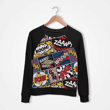 Modern Comic - Digital Printed Sweat Shirt