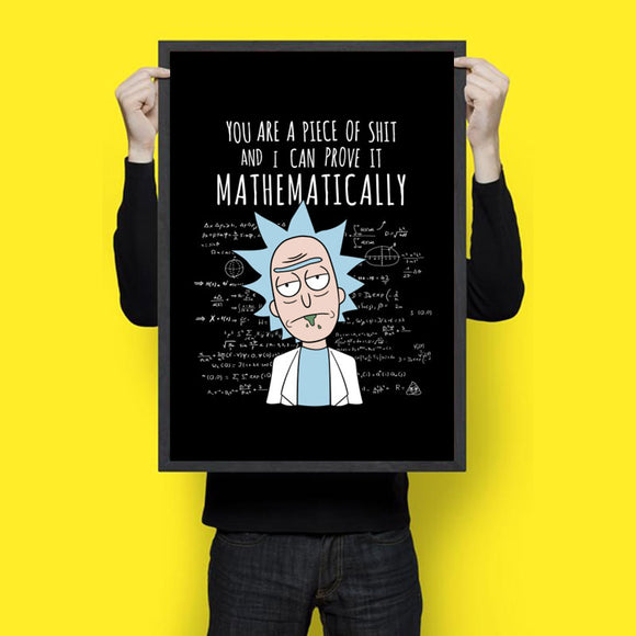 You Are A Piece Of Shit Mathematically - Wall Hangings