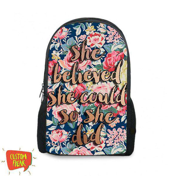 She Believed She Could So She Did - Backpack