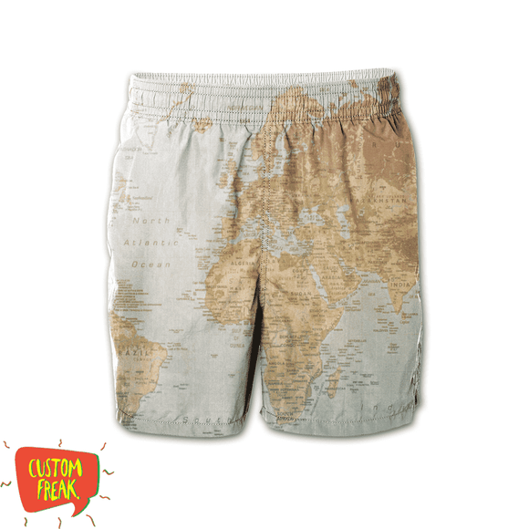 World Map - All Over Printed Shorts