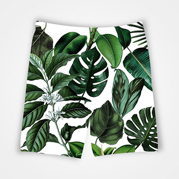 Leaves - All Over Printed Shorts