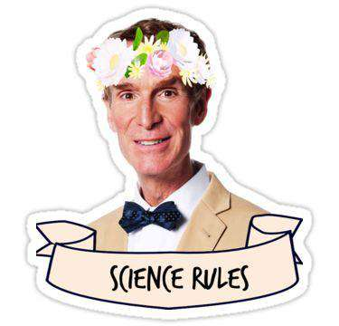 Science Rules - Cutout Sticker