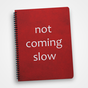 Not Coming Slow - Notebook