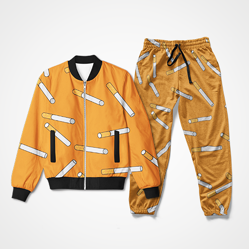 Cigarette Collage - Track Suit