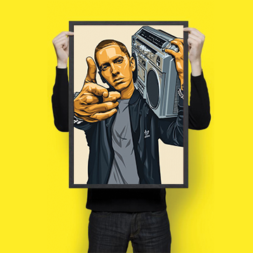 SALE -  Eminem - Wall Hangings