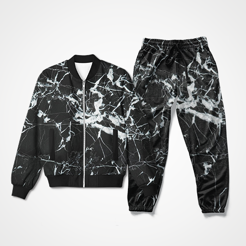 Black Marble Pattern - Track Suit