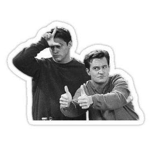 Joey And Chandler - Friends - Cutout Sticker