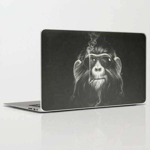 Laptop Skin Smoking Monkey