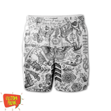 Harry Styles Tattoo - All Over Printed Shorts