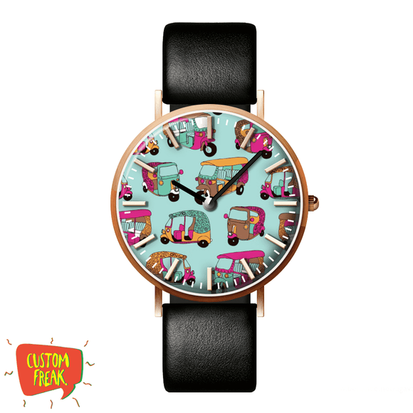 Rickshaw Pattern - Wrist Watch