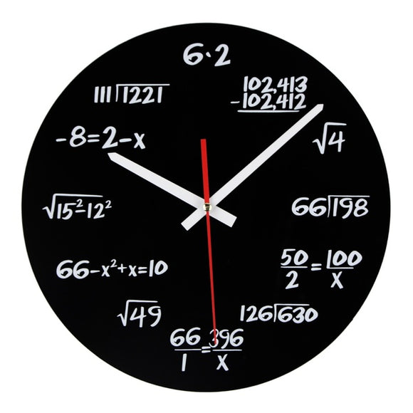 Equations - Acrylic Clock