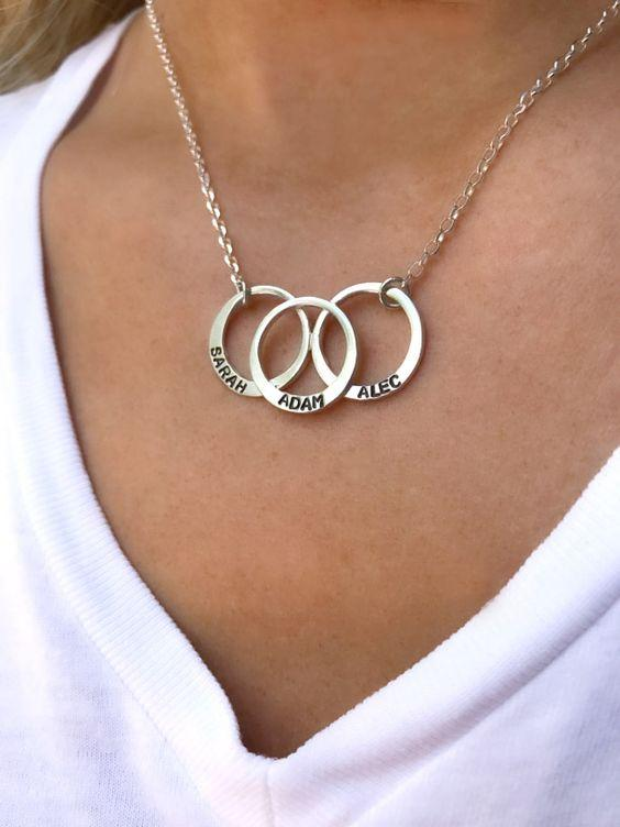 3 Rings Named - Necklace