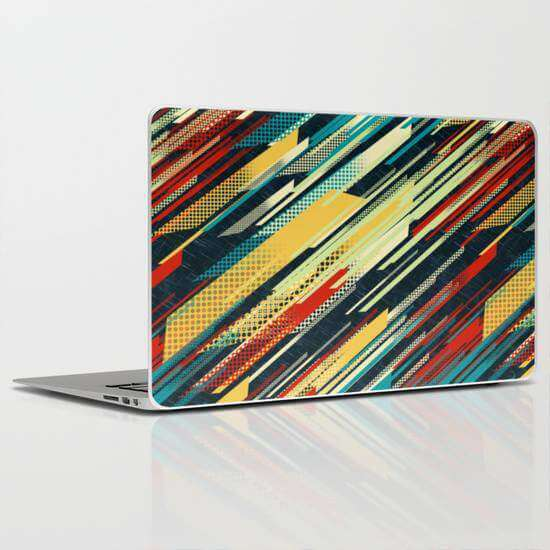 Laptop Skin Colorful Lines