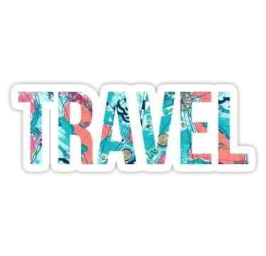 Travel - Cutout Sticker