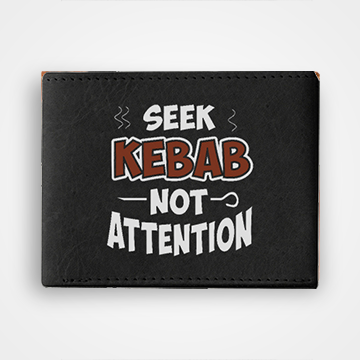 Seekh Kabab Not Attention - Graphic Printed Wallets