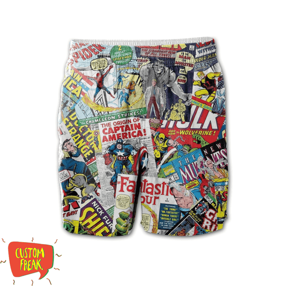 Marvel Comics - All Over Printed Shorts