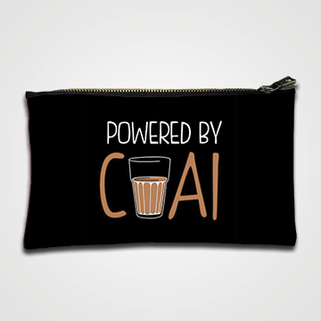 Powered By Chai - Zipper pouch