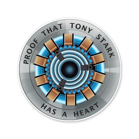 Proof That Tony Stark Has A Heart - Cutout Sticker
