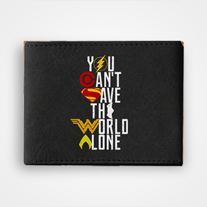 You Cant Save The World Alone - Graphic Printed Wallets