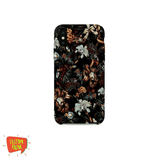 Black Floral Print 02 - Cell Cover - Cell Cover