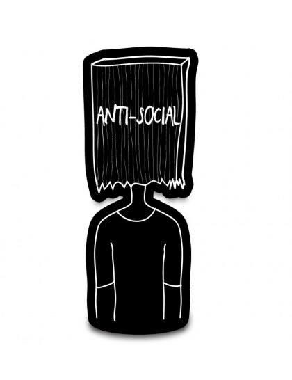 Anti Social - Cutout Sticker