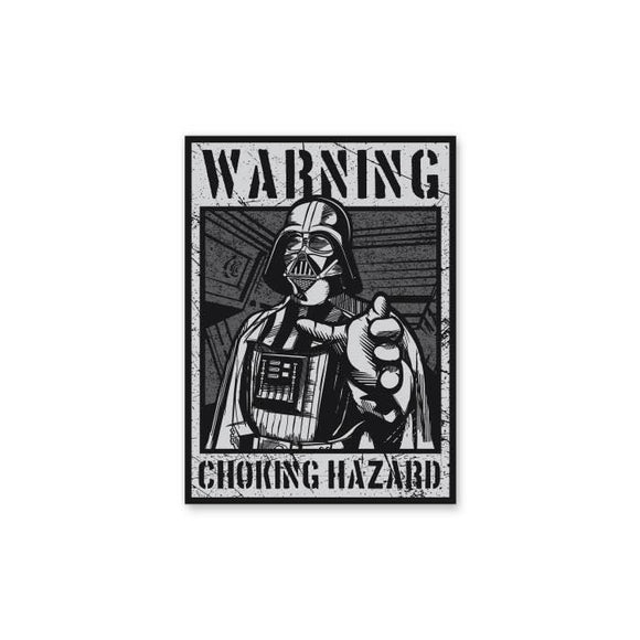 Warning Choking Hazards - Cutout Sticker