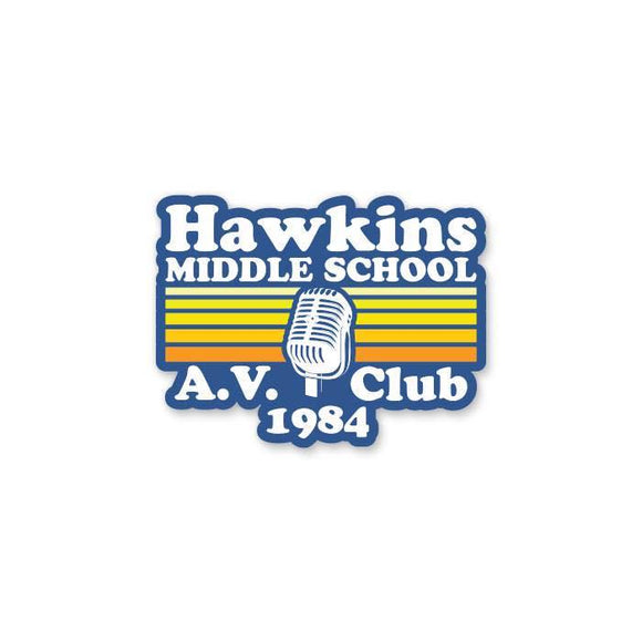 Hawkins Middle School AV Club 1984  - Cutout Sticker
