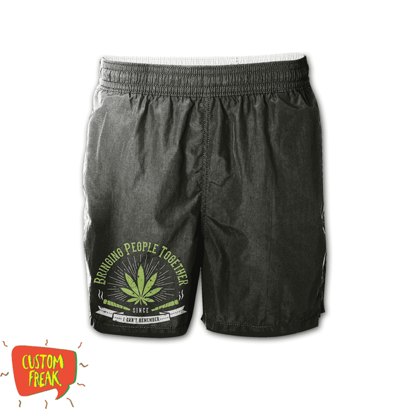 Bring People Together - Weed - Graphic Printed Shorts