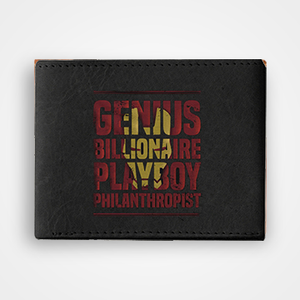 Genius Billionaire Playboy Philanthropist - Graphic Printed Wallets