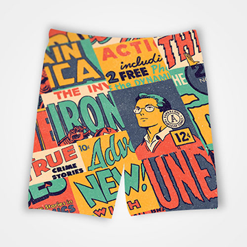 Marvel Comic - All Over Printed Shorts