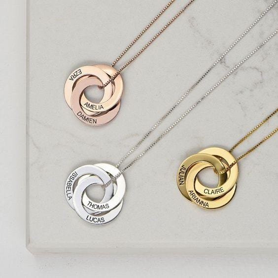 3 Rings Merge - Necklace