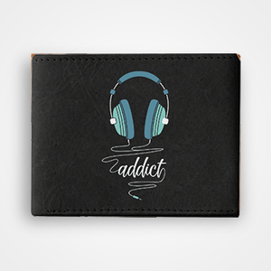 Music Addict - Graphic Printed Wallets