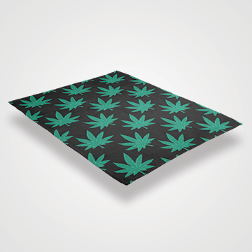 Weed Abstract - Throw Blankets