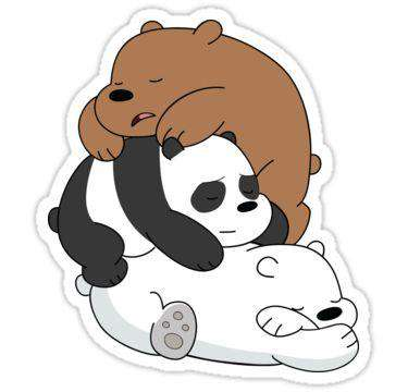 Lazy Bears - Cutout Sticker