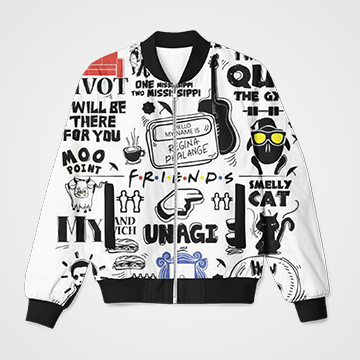 Friends  collage  - Bomber Jacket