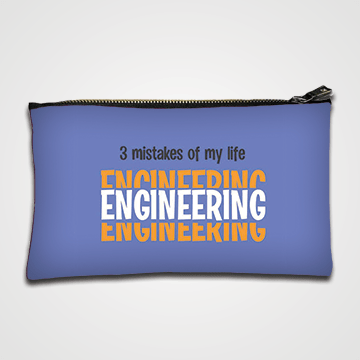 3 Mistakes of My Life Engineering - Zipper pouch