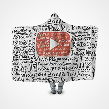 YouTube  Collage  - Hooded Blanket